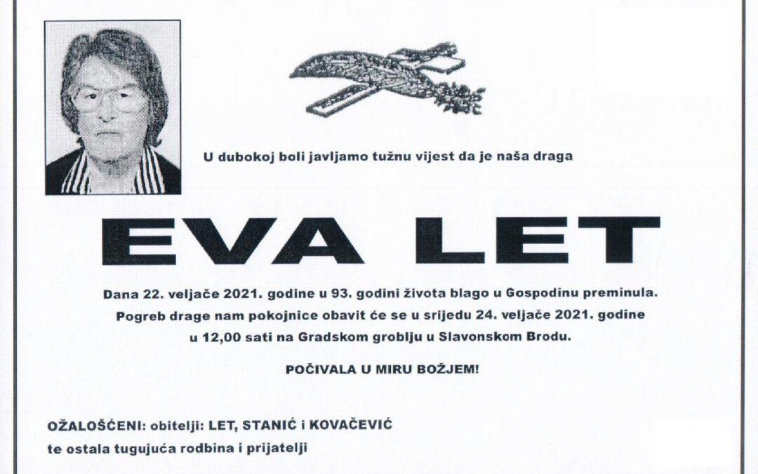 IN MEMORIAM – EVA LET