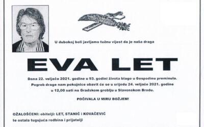 IN MEMORIAM – EVA LET